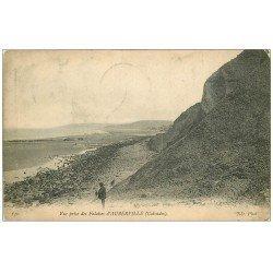 carte postale ancienne 14 AUBERVILLE. Falaises 1907