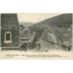 carte postale ancienne 68 THANN. Bombardée par les Allemands