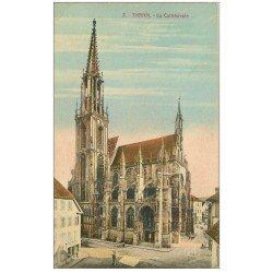 carte postale ancienne 68 THANN. Cathédrale en couleur
