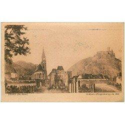 carte postale ancienne 68 THANN. Château d'Engelsbourg en 1900 (1955))