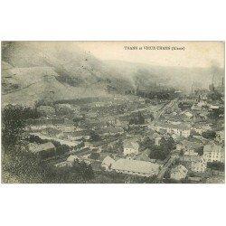 carte postale ancienne 68 THANN. Et Vieux Thann 1915