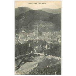 carte postale ancienne 68 THANN. Vue aérienne
