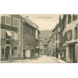 carte postale ancienne 67 BARR. Confiserie rue Principale Hôtel Restaurant au Bouc Noir