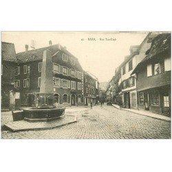 carte postale ancienne 67 BARR. Confiserie rue Taufflieb