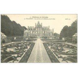 carte postale ancienne 14 BALLEROY. Le Château et Jardins 3