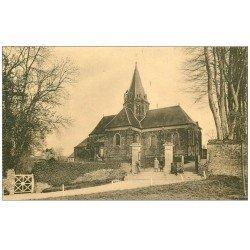 carte postale ancienne 14 BALLEROY. L'Eglise animation