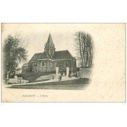 carte postale ancienne 14 BALLEROY. L'Eglise animée