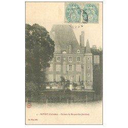 carte postale ancienne 14 BAVENT. Château de Béneauville 1905