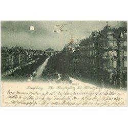 carte postale ancienne 67 STRASBOURG STRASSBURG. 1898 der Broglieplatz 1898