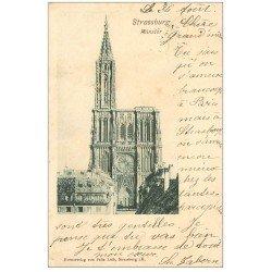 carte postale ancienne 67 STRASBOURG STRASSBURG. 1899 Münster 1899