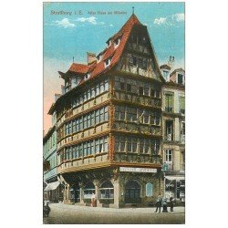 carte postale ancienne 67 STRASBOURG STRASSBURG. Altes Haus am Münster 1919
