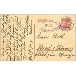 carte postale ancienne 67 STRASBOURG STRASSBURG. Carte correspondance pour Roth 1915