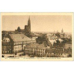 carte postale ancienne 67 STRASBOURG STRASSBURG. Cathédrale 1945