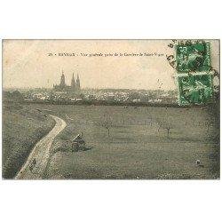 carte postale ancienne 14 BAYEUX. Carrière de Saint-Vigor 1917