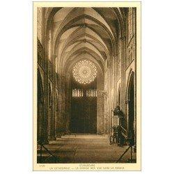 carte postale ancienne 67 STRASBOURG STRASSBURG. Cathédrale. Nef et Rosace