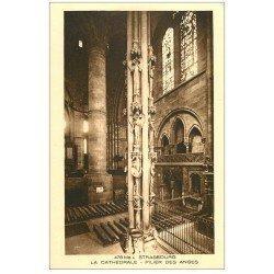 carte postale ancienne 67 STRASBOURG STRASSBURG. Cathédrale. Pilier Anges