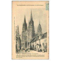carte postale ancienne 14 BAYEUX. Cathédrale 1906. Papier velin