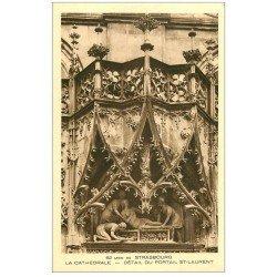 carte postale ancienne 67 STRASBOURG STRASSBURG. Cathédrale. Portail Saint-Laurent