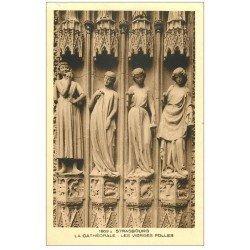 carte postale ancienne 67 STRASBOURG STRASSBURG. Cathédrale. Vierges folles