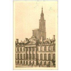 carte postale ancienne 67 STRASBOURG STRASSBURG. Château Rohan et Cathédrale 1937