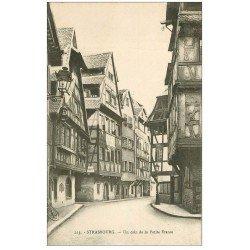 carte postale ancienne 67 STRASBOURG STRASSBURG. Coin Petite France