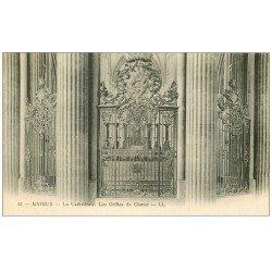 carte postale ancienne 14 BAYEUX. Cathédrale Grilles du Choeur