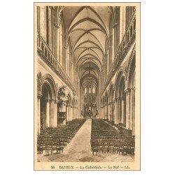carte postale ancienne 14 BAYEUX. Cathédrale la Nef 26