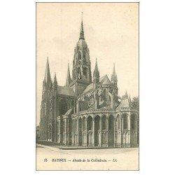 carte postale ancienne 14 BAYEUX. Cathédrale n°15 Abside