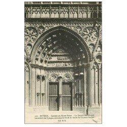 carte postale ancienne 14 BAYEUX. Cathédrale Portail Méridional