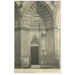 carte postale ancienne 14 BAYEUX. Cathédrale Porte Tour nord