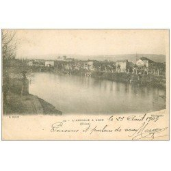 carte postale ancienne 69 ANSE. L' Azergues 1903