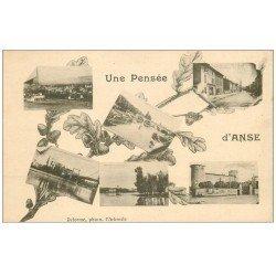carte postale ancienne 69 ANSE. Multivues 1924