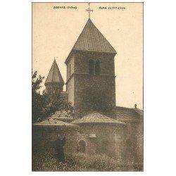 carte postale ancienne 69 AVENAS. L'Eglise avec Curé