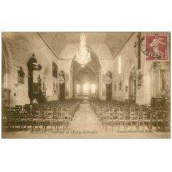 carte postale ancienne 69 BEAUJEU. Eglise Saint-Nicolas vers 1920