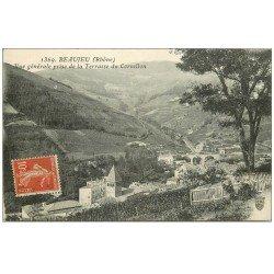carte postale ancienne 69 BEAUJEU. Vue de la Terrasse du Cornillon 1912