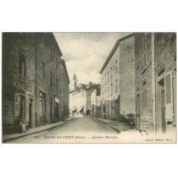 carte postale ancienne 69 BOURG-DE-THIZY. Quartier Pierrefeu