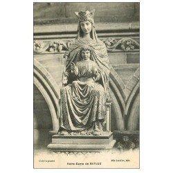 carte postale ancienne 14 BAYEUX. Cathédrale Statue Notre-Dame