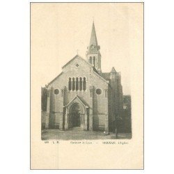 carte postale ancienne 69 BRIGNAIS. L'Eglise vers 1900
