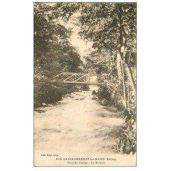 carte postale ancienne 69 CHARBONNIERES-LES-BAINS. Rivière au Parc du Casino 1926