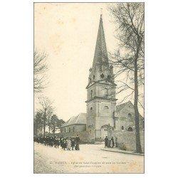 carte postale ancienne 14 BAYEUX. Eglise Saint-Exupère colonne d'Ecolières
