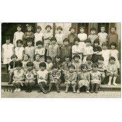 69 LYON 4°. Rare Carte Photo 1929 Ecole La Salle photo de Classe. Photographe Demierre 14 rue Imbert Colomès à Lyon