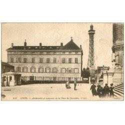 carte postale ancienne 69 LYON. Archevêché et Tour Fourvière 1917