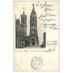 carte postale ancienne 69 LYON. Basilique Notre-Dame de Fourvière 1902