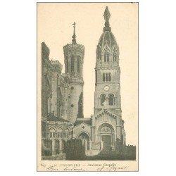 carte postale ancienne 69 LYON. Basilique Notre-Dame de Fourvière 1904 ancienne Chapelle