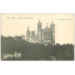 carte postale ancienne 69 LYON. Basilique Notre-Dame de Fourvière 1906 Abside