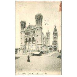 carte postale ancienne 69 LYON. Basilique Notre-Dame de Fourvière 1908 180