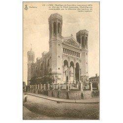 carte postale ancienne 69 LYON. Basilique Notre-Dame de Fourvière 1914 Piété Lyonnaise