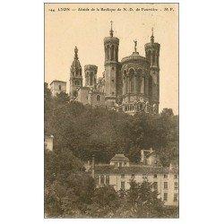 carte postale ancienne 69 LYON. Basilique Notre-Dame de Fourvière Abside 1925