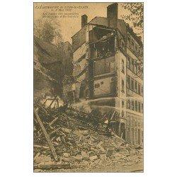 carte postale ancienne 69 LYON. Catastrophe Saint-Jean Cours Herbouville ruines 1932 Sauveteurs Secouristes