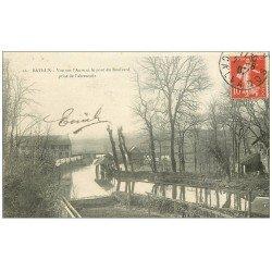 carte postale ancienne 14 BAYEUX. L'Aure et Pont du Boulevard 1907